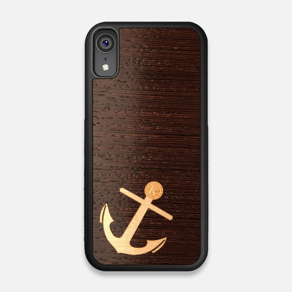 Front view of the Anchor Wenge Wood iPhone XR Case by Keyway Designs