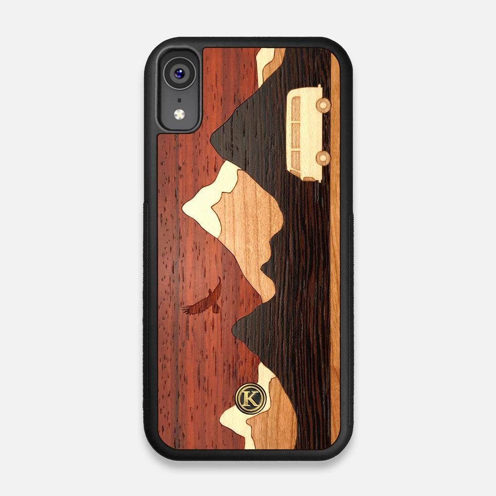 TPU/PC Sides of the Cross Country Wood iPhone XR Case by Keyway Designs
