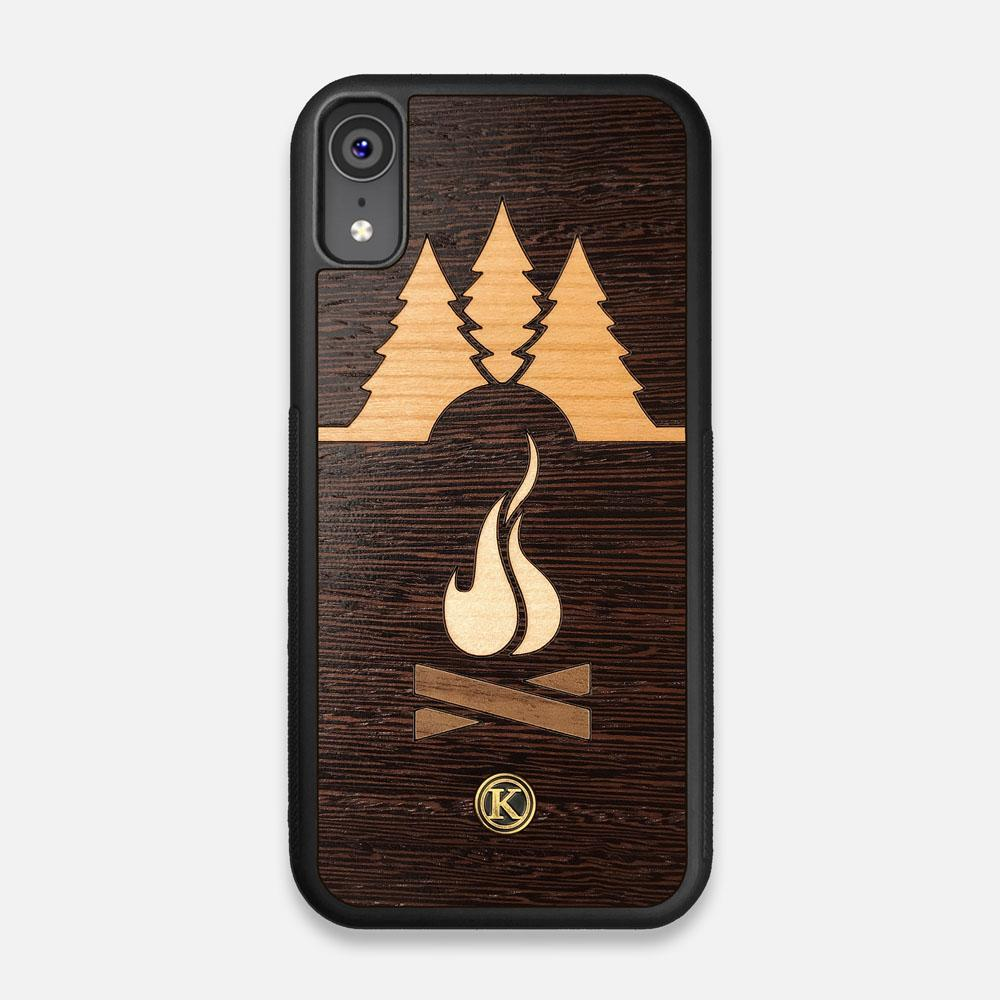 Front view of the Nomad Campsite Wood iPhone XR Case by Keyway Designs