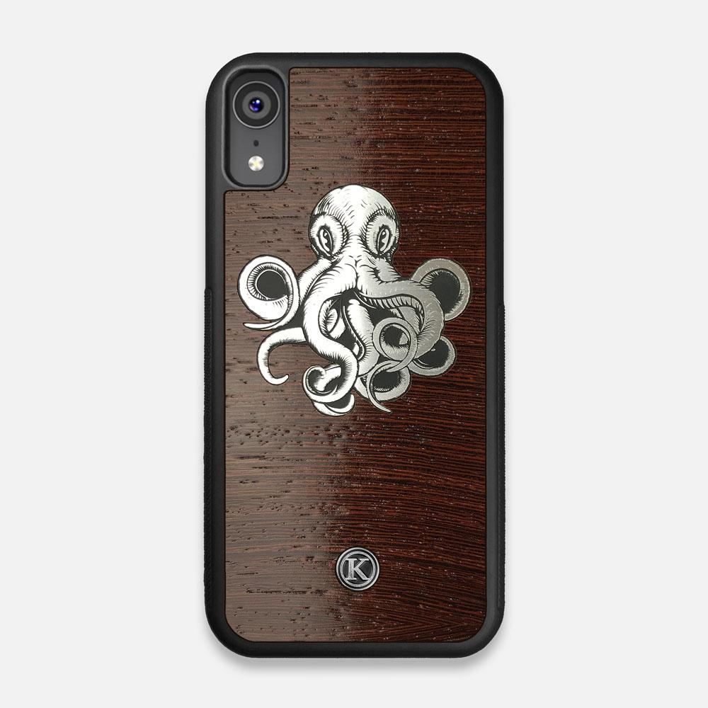 Front view of the Prize Kraken Wenge Wood iPhone XR Case by Keyway Designs