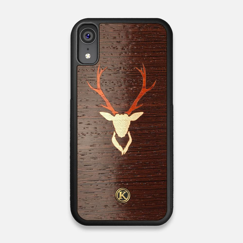 Front view of the Stag Wenge Wood iPhone XR Case by Keyway Designs