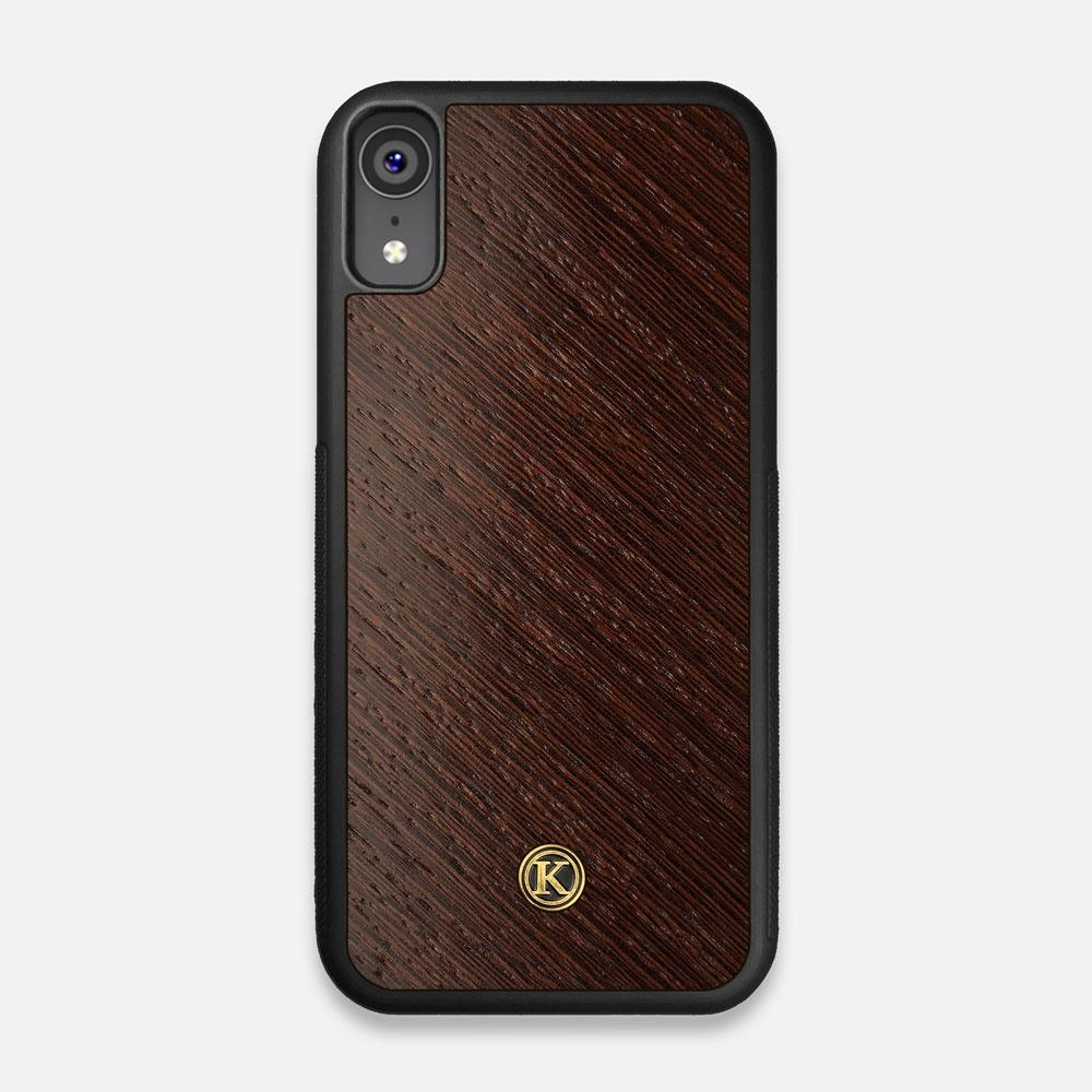 Front view of the Wenge Pure Minimalist Wood iPhone XR Case by Keyway Designs