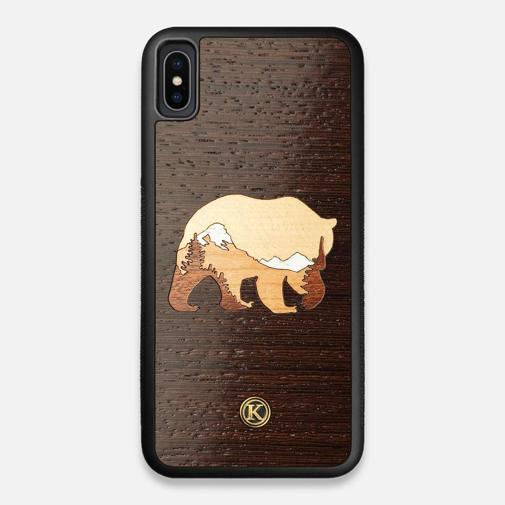 TPU/PC Sides of the Bear Mountain Wood iPhone XS Max Case by Keyway Designs