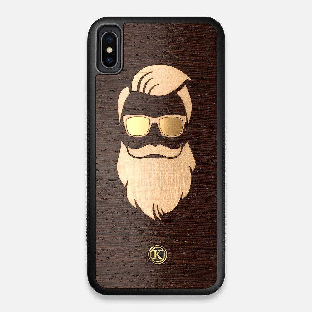 Front view of the The Blonde Beard Wenge Wood iPhone XS Max Case by Keyway Designs
