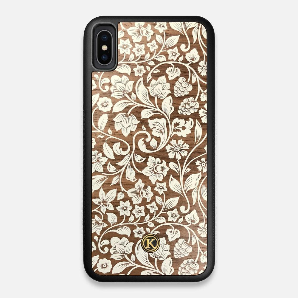 Front view of the Blossom Whitewash Wood iPhone XS Max Case by Keyway Designs
