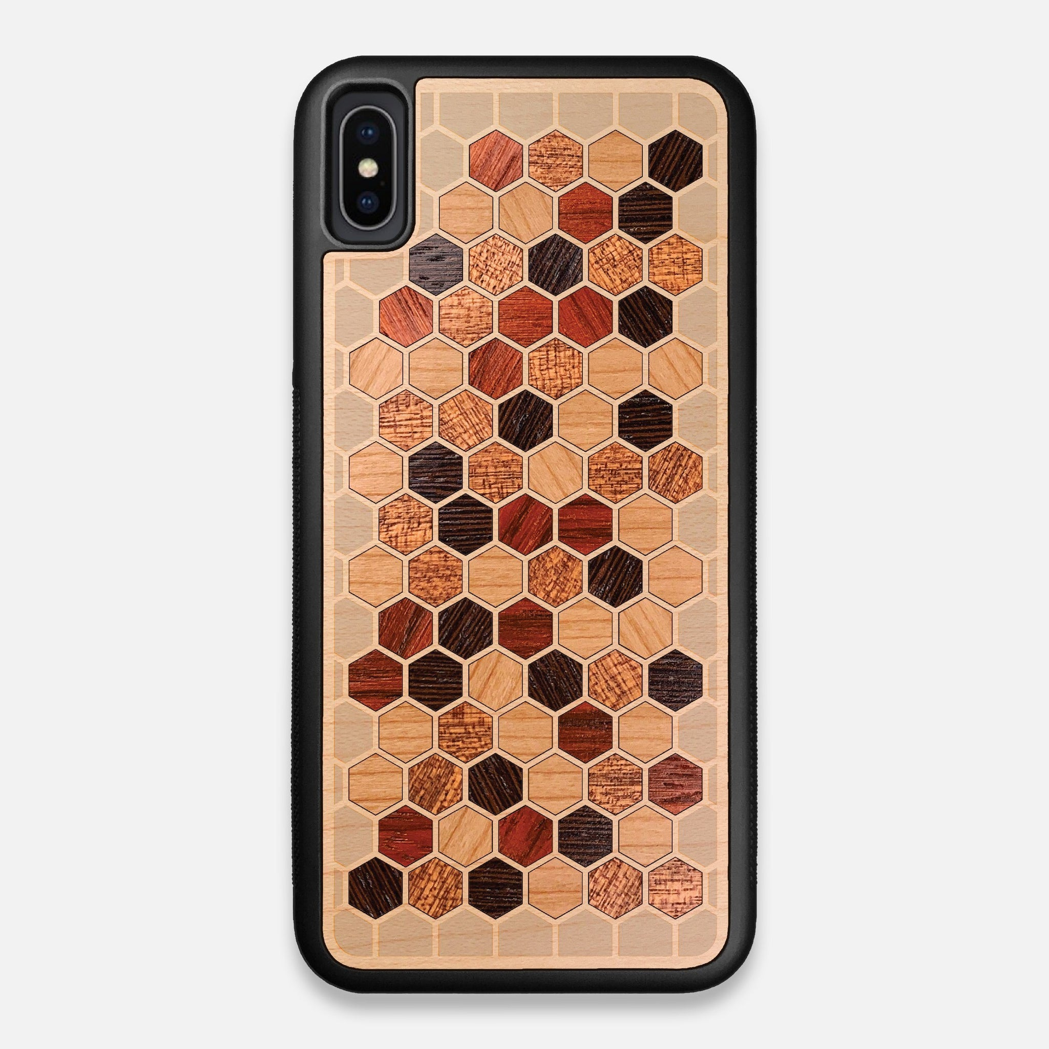 Front view of the Cellular Maple Wood iPhone XS Max Case by Keyway Designs