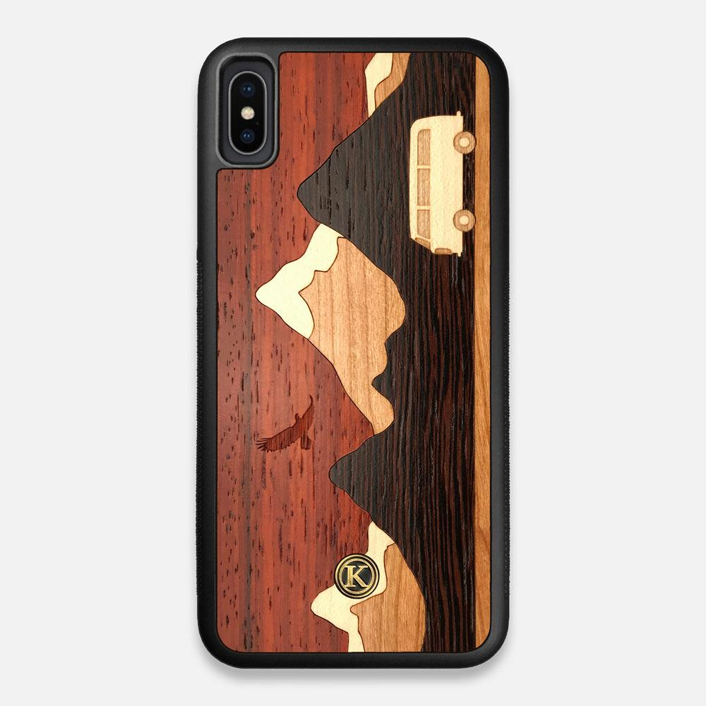 Front view of the Compass By Nrth Blue Denim iPhone XS Max Case by Keyway Designs