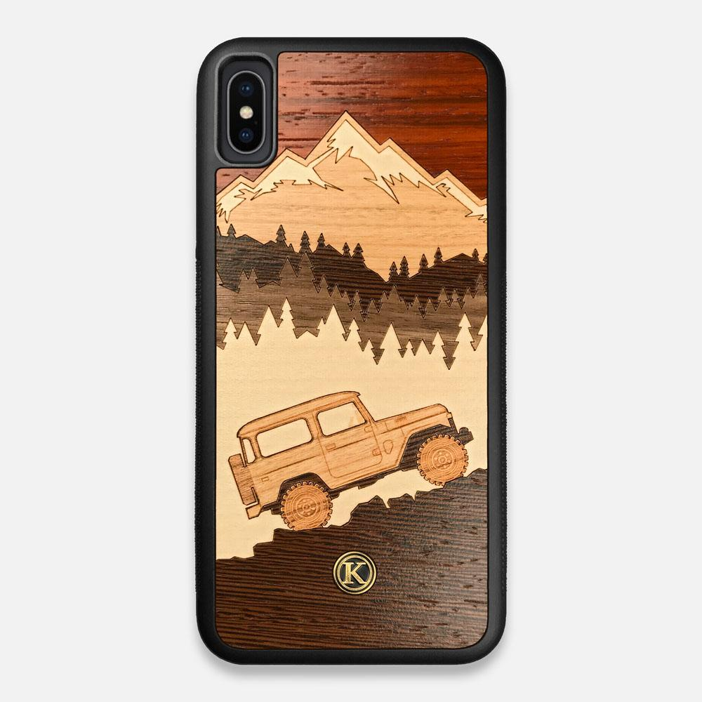 TPU/PC Sides of the Off-Road Wood iPhone XS Max Case by Keyway Designs
