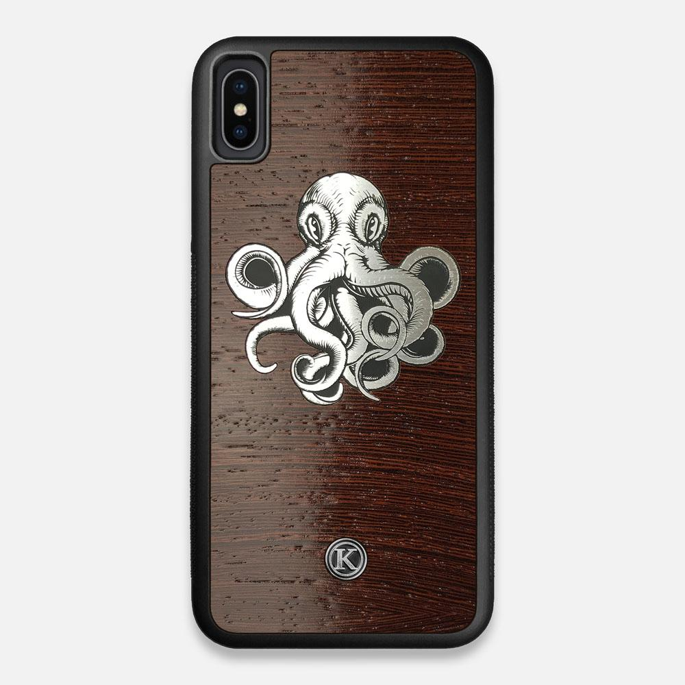 Front view of the Prize Kraken Wenge Wood iPhone XS Max Case by Keyway Designs