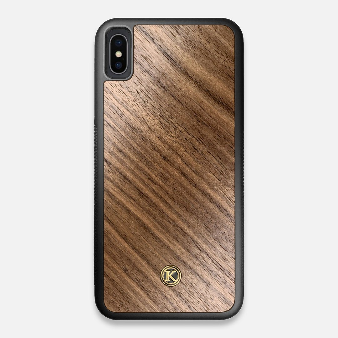 Front view of the Walnut Pure Minimalist Wood iPhone XS Max Case by Keyway Designs