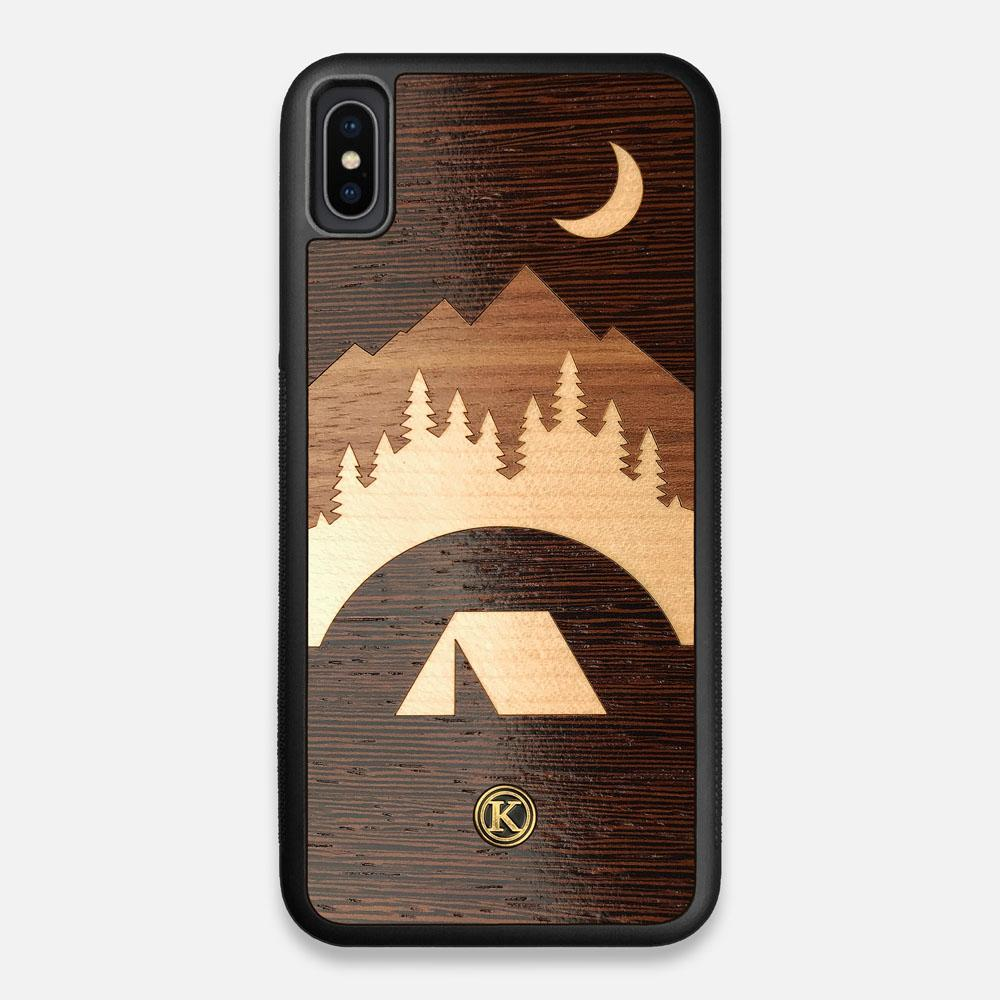 Front view of the Wilderness Wenge Wood iPhone XS Max Case by Keyway Designs
