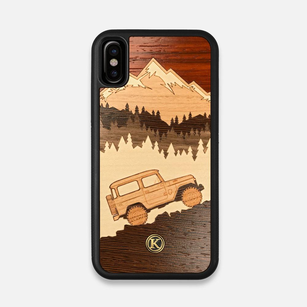 TPU/PC Sides of the Off-Road Wood iPhone X Case by Keyway Designs