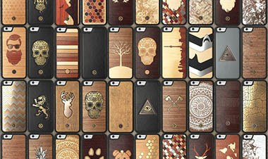 Leather and Wood iPhone Cases for the iPhone, Made by Keyway in Canada