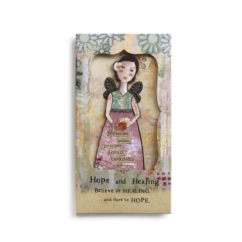 Kelly Rae Roberts Angel Ornament Card-Hope and Healing