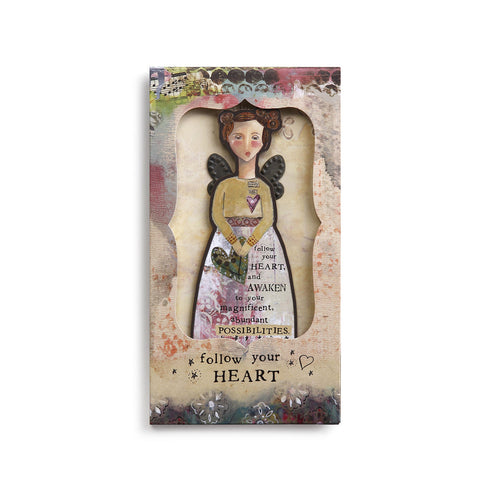 Kelly Rae Roberts Angel Ornament Card-Follow Your Heart **