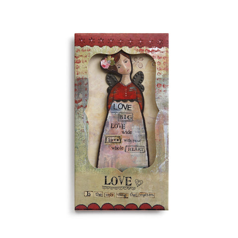 Kelly Rae Roberts Angel Ornament Card-Love **