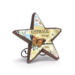 Kelly Rae Roberts Wood Carved Star-Embrace Change