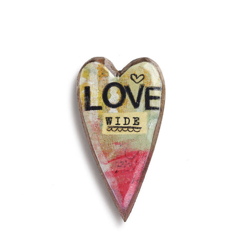 Kelly Rae Roberts Wood Carved Pin-Love Wide **
