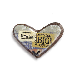Kelly Rae Roberts Wood Carved Pin-Dream Big **