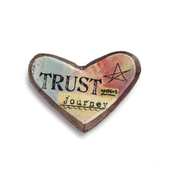 Kelly Rae Roberts Wood Carved Pin-Trust **