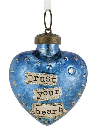 Kelly Rae Roberts Glass Birthday Wish Ornament-March