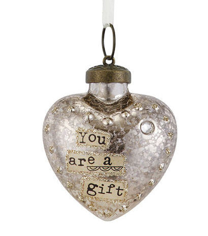 Kelly Rae Roberts Glass Birthday Wish Ornament-April