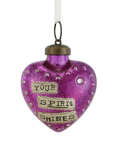 Kelly Rae Roberts Glass Birthday Wish Ornament-June