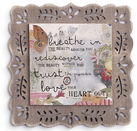 Kelly Rae Roberts Magnetic Plaque- Breathe