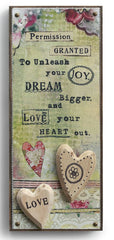 Kelly Rae Roberts Embellished Wall Art -Love Your Heart Out