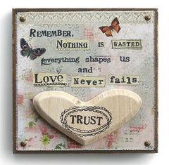 Kelly Rae Roberts Embellished Wall Art -Love Never Fails