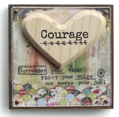 Kelly Rae Roberts Embellished Wall Art -Courage
