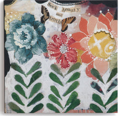 "Kelly Rae Roberts 6"" Wall Art- Seek Beauty"