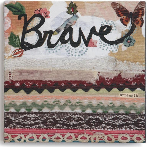 "Kelly Rae Roberts 6"" Wall Art- Brave"