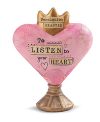 Kelly Rae Roberts Heart Sculpture-Listen