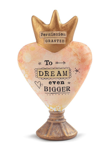Kelly Rae Roberts Heart Sculpture-Dream