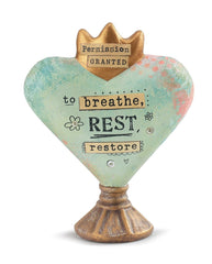 Kelly Rae Roberts Heart Sculpture-Breathe