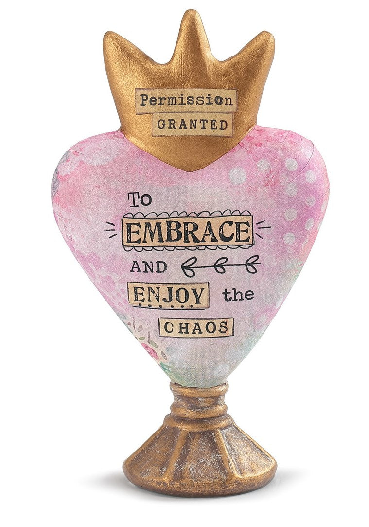 Kelly Rae Roberts Heart Sculpture-Embrace