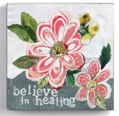 "Kelly Rae Roberts 6"" Wall Art- Believe in Healing"