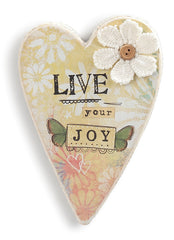 Kelly Rae Roberts Wall Heart- Live Your Joy