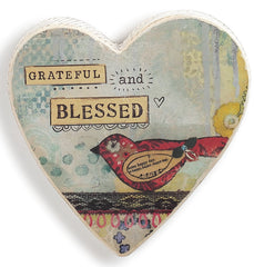Kelly Rae Roberts Wall Heart-Grateful