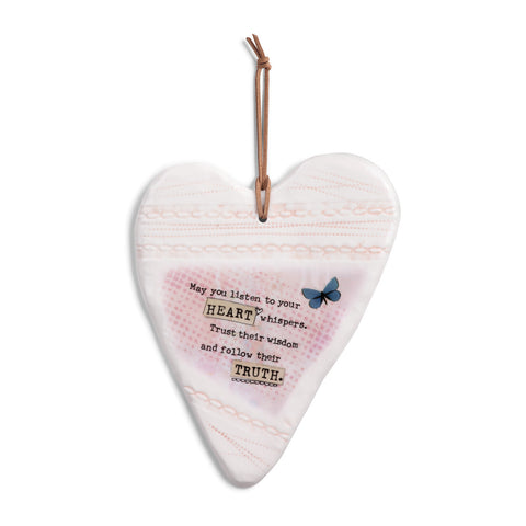 Kelly Rae Roberts Stoneware Plaque - Heart Whispers