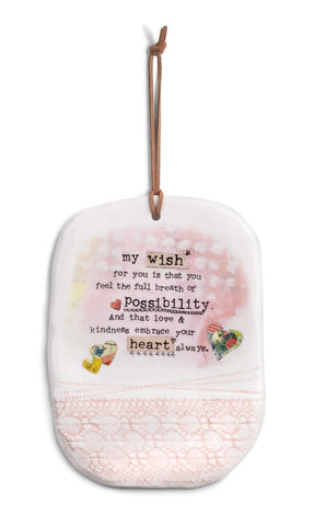 Kelly Rae Roberts Stoneware Plaque - Possibility