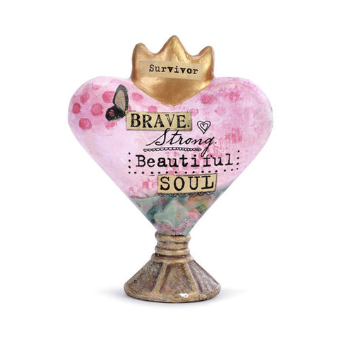 Kelly Rae Roberts Heart Sculpture- Brave Soul