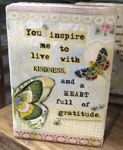 Kelly Rae Roberts Plaque - Live With Kindness