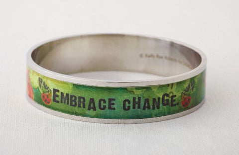 Kelly Rae Roberts Bangle Bracelet-Embrace Change **