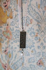 Kelly Rae Roberts Necklace Embossed Charm-Love **