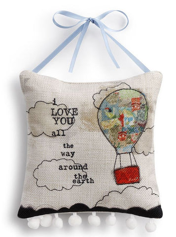 Kelly Rae Roberts Pillow Wall Art- Hot Air Balloon **