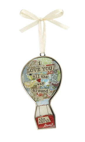 Kelly Rae Roberts Keepsake Ornament- Hot Air Balloon **