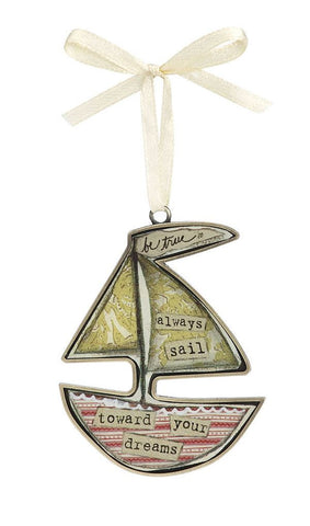 Kelly Rae Roberts Keepsake Ornament- Sailboat **