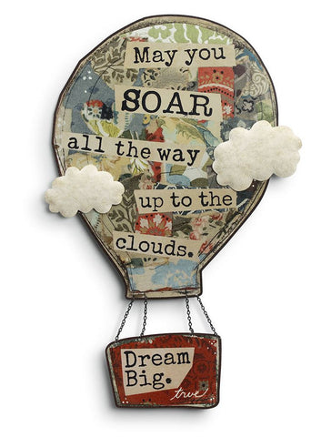Kelly Rae Roberts Metal Sculpture - Hot Air Balloon
